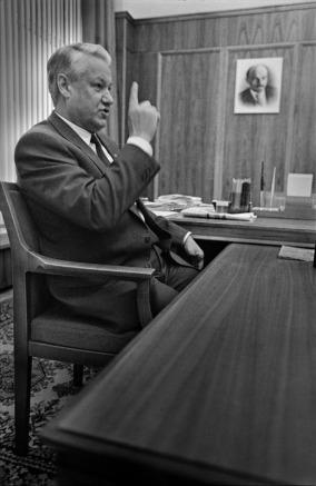 Борис Ельцин. Москва. Белый дом. 1990. ©Александр Тягны-Рядно.
