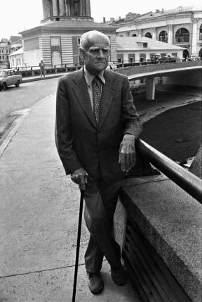 Альберто Моравиа. Москва. ММКФ. 1983. ©Александр Тягны-Рядно.