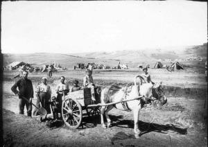 Семья грабаря-землекопа на Кузнецкстрое