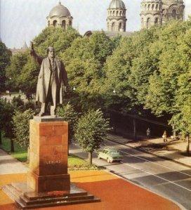 Памятник В.И. Ленину в Риге работы В. Боголюбова и В. Ингала