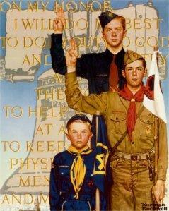 Представители трех скаутских отрядов