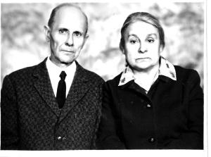 Адина Лоренцовна с братом Яковом Эйгирис. 1970-е годы
