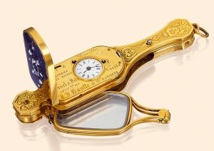 Золотой лорнет-часы
