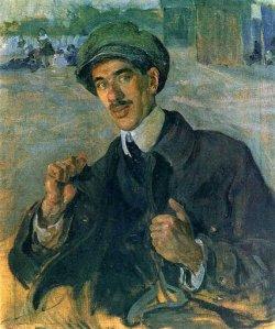Портрет Корнея Чуковского. Картина И.И. Бродского. 1916 год
