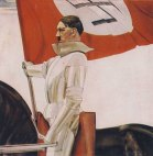 """Гитлер в рыцарских доспехах"". Картина Х.Ланцингера"