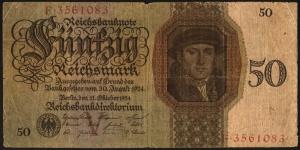 50 рейхсмарок. 1924 год