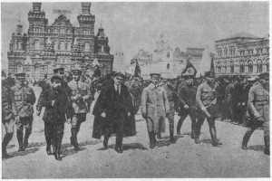 Ленин на параде войск Всеобуча. Москва, Красная площадь, 25 мая 1919 год