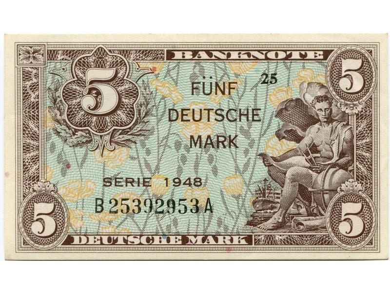 Дойчмарка 1950 года цена 50 фунтов в гривнах