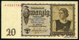 20 рейхсмарок. 1939 год