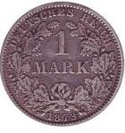 Первая золотая марка 1873 года чеканки
