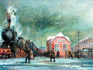 Отправка правительственного поезда со станции Цветочная в Москву