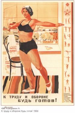 Советский плакат ГТО