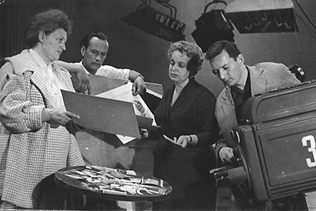 В студии Центрального телевидения. Начало 60-х