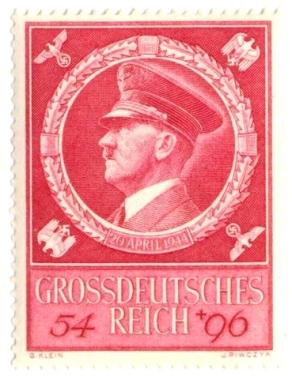 Марка к 55-летию Гитлера