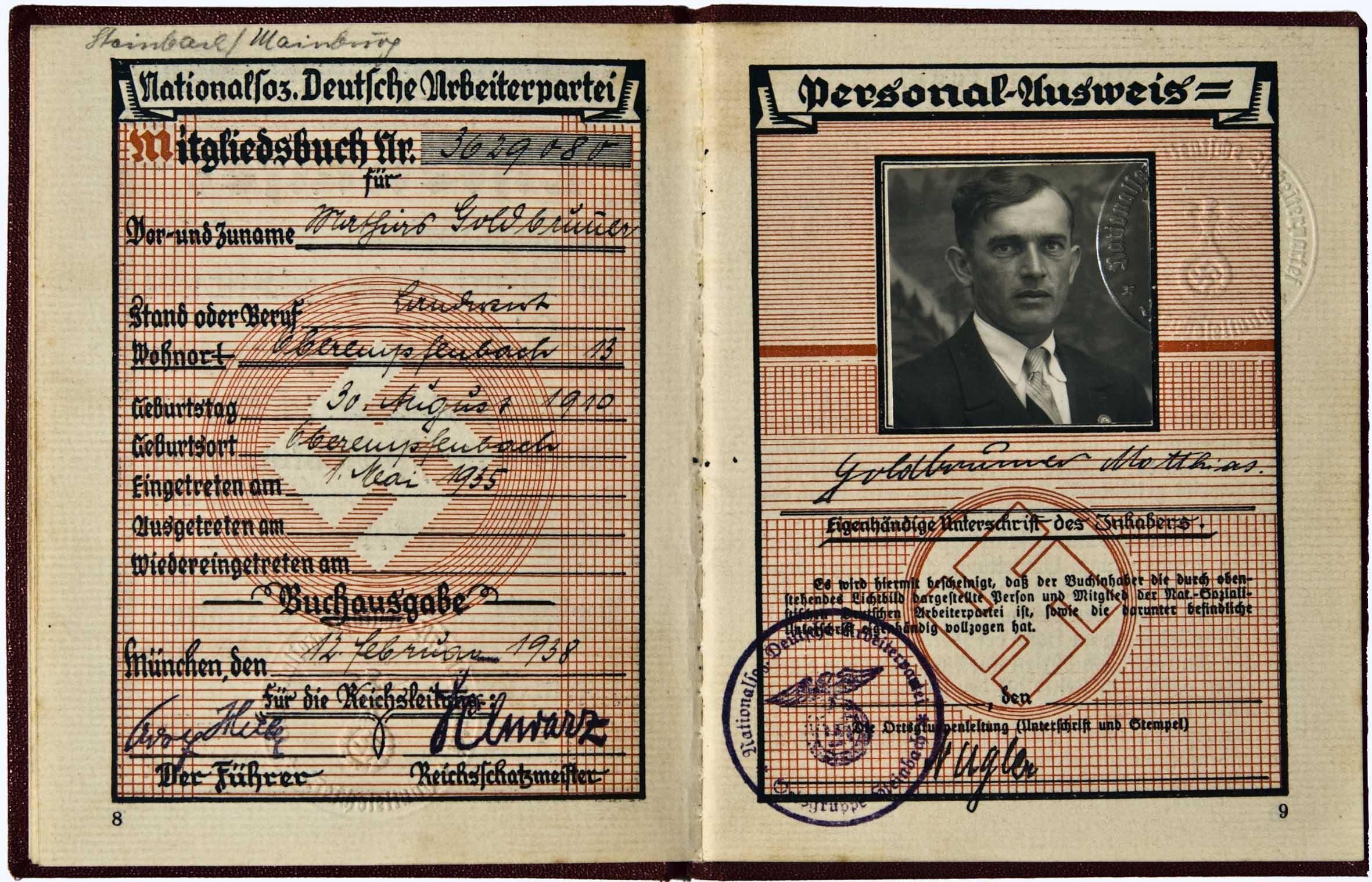 Член германской фаштстской партии