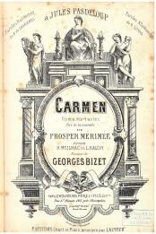 Титульный лист нотной записи оперы Жоржа Бизе «Кармен» изд. Отец Шуден и сыновья, Париж