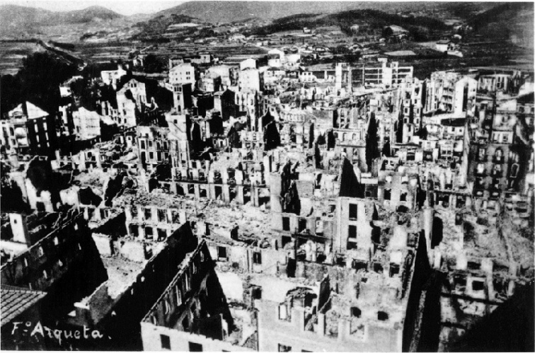 Герника после бомбардировки