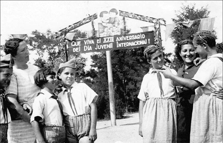Испанские дети в санатории под Одессой