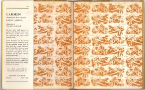 Форзац и клапан суперобложки детского издания оперы Кармен, 1938 г, Нью-йорк.Гроссет & Данлэп (Гильдия Метрополитен-оперы)