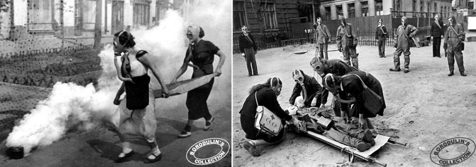 Отработка действий в условиях газовой атаки