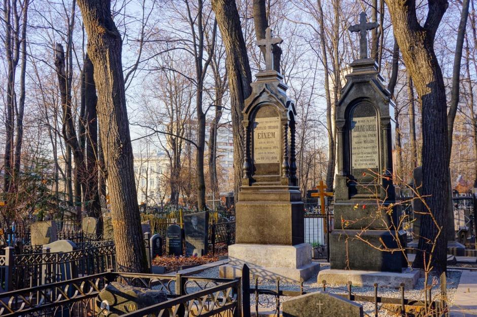 Могила Ф.Эйнема на Лефортовском кладбище