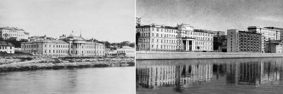 Мазуринский дом призрения. Снимки 1891 и 1947 годов