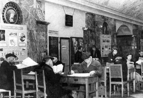 Часть библиотек Москвы во время войны перебралась в метрополитен