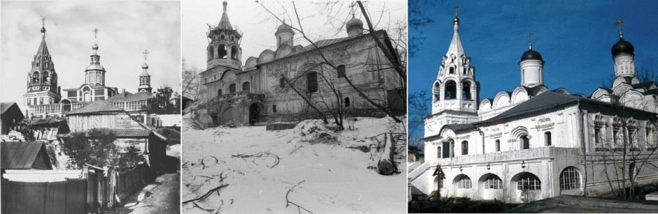Церковь Великомученика Никиты на Швивой горке. Снимки начала, середины и конца XX века