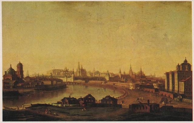 Котельническая набережная в 1818 году на картине М.Н. Воровьева