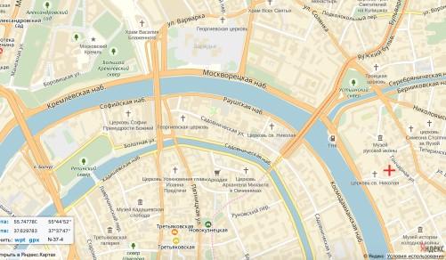 То же место на карте сегодняшней Москвы