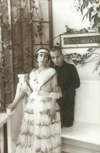 Ксешинская с сыном в особняке