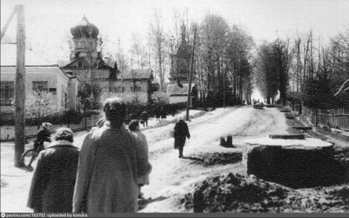 ул.Свободы и Храм Александра Невского в 1958 году...