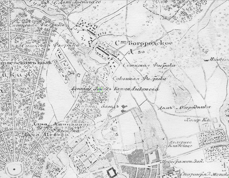 Карта окрестностей Москвы 1878 года