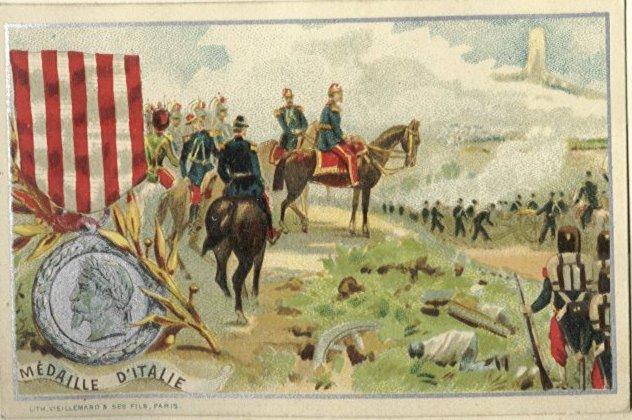 Французская открытка, посвященная победе в битве под Сольферино