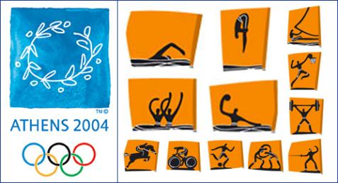 пиктограммы олимпиады в Афинах 2004