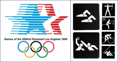 пиктограммы олимпиады в Лос-Анджелесе 1984