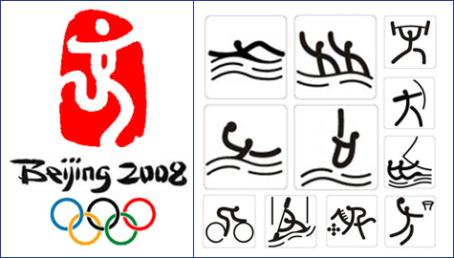 пиктограммы олимпиады в Пекине 2008